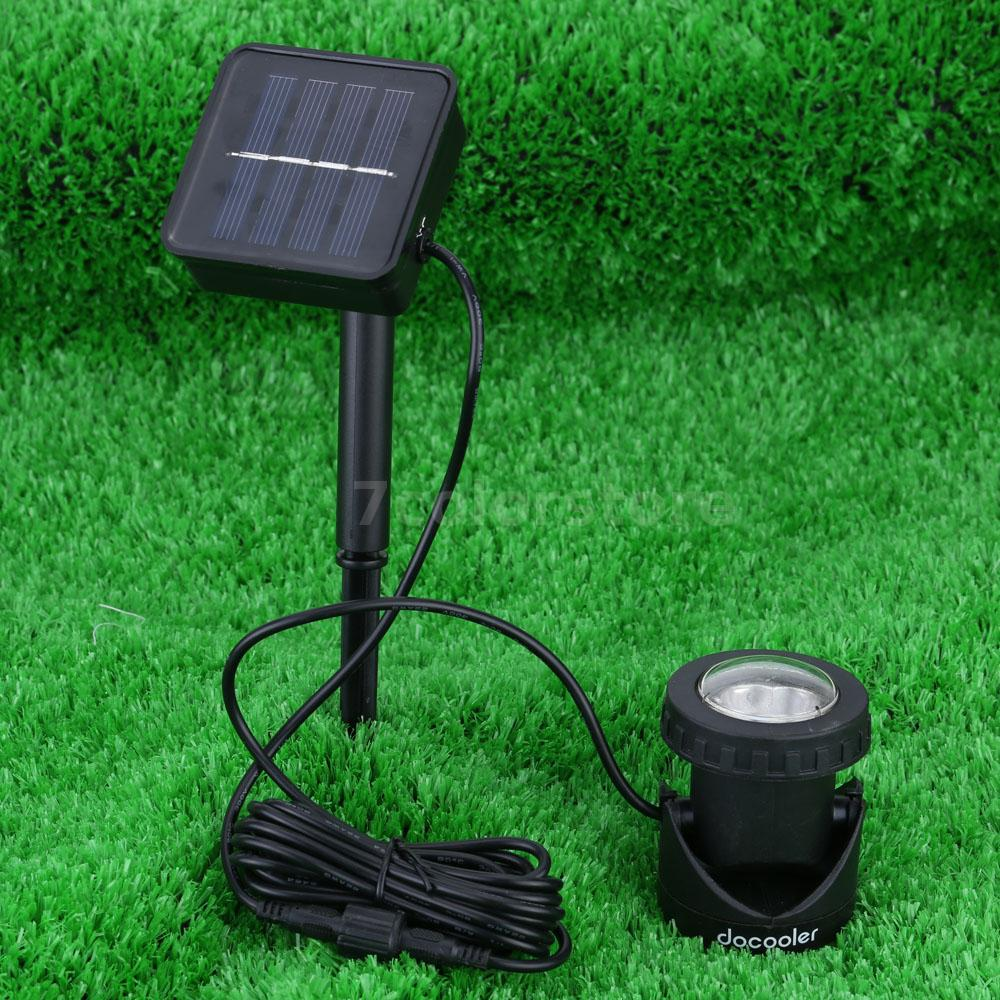 waterproof solar powered outdoor spotlight pool led garden lights uk