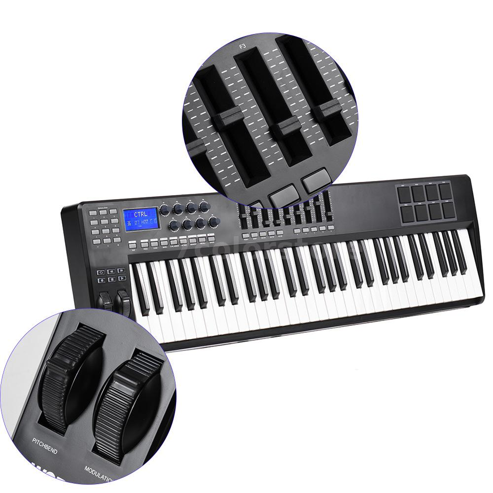 panda61 61 key usb midi controller keyboard 8 drum pads high quality new l7q2 ebay. Black Bedroom Furniture Sets. Home Design Ideas