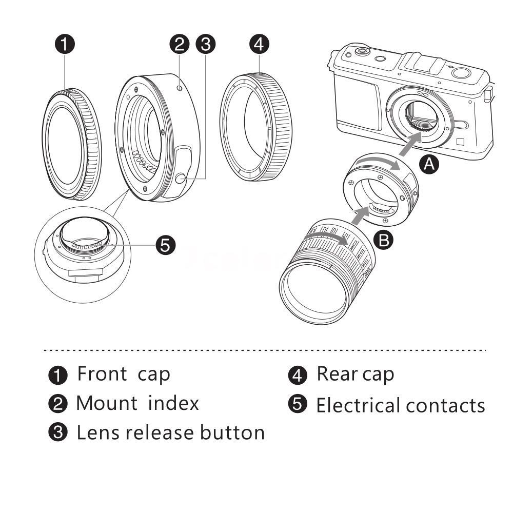 Viltrox JY-43F AF Focus Autofocus Adapter Ring Metal Mount